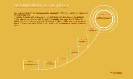 Sete benefícios ao Ler a Bíblia
