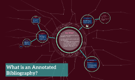 Copy of What is an Annotated Bibliography?