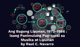 Ang Bagong Lipunan, 1972-1986 : Isang Panimulang Pag-aaral s