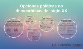 Alternativas no democráticas del siglo XX