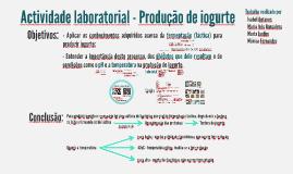 Actividade laboratorial - Produção de iogurte