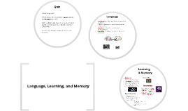 Language, Learning, and Memory