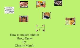 How to make cobbler  Photo Essay