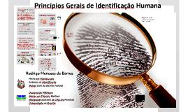 Princípios Gerais da Identificação Humana