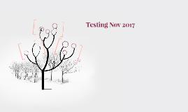 Testing Nov 2017