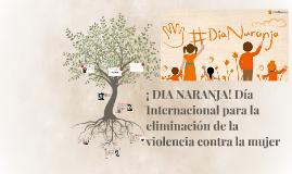 ¡ NARANJA! Día Internacional para la eliminación de la viole