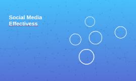 Social Media Effectivess
