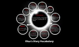Copy of Elisa's Diary Vocabulary