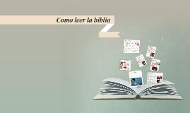 Copy of Como leer la biblia