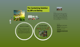 The Containing Solution