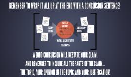 Copy of Writing Argumentative Paragraphs
