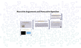 FYC: Narrative Arguments and Persuasive Speeches