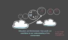 Education and Environment: Youth Contributions