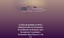 Gestión de pedidos en Web y administración de inventarios de