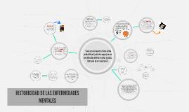 HISTORICIDAD DE LAS ENFERMEDADES MENTALES
