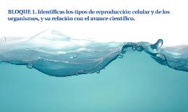BLOQUE 1. Identificas los tipos de reproducción celular y de