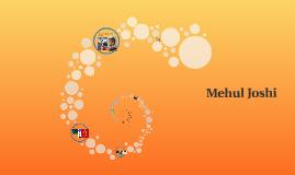 J m'appelle Mehul Joshi