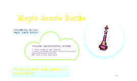 Magic Jeanie Bottle
