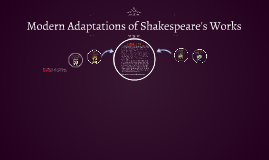 Modern Adaptations of Shakespeare's Works
