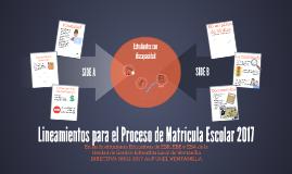 Lineamientos para el Proceso de Matrícula Escolar 2017