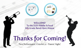 6th Grade Band Open House