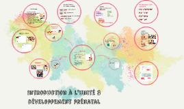 introduction à l'unité 3 développement prénatal