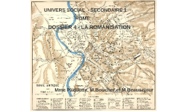UNIVERS SOCIAL  - SECONDAIRE 1