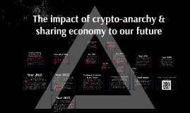 Impact of crypto-anarchy & sharing economy to our future