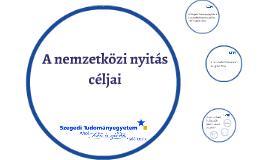 A nemzetközi nyitás céljai