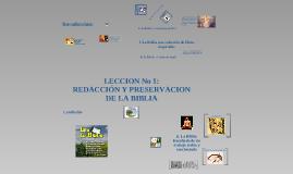 Copy of Redacción y preservación de la Biblia