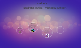 business ethics michaela cuthbert