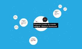Proyecto Cuadro de mando integral - Balance Scorecard