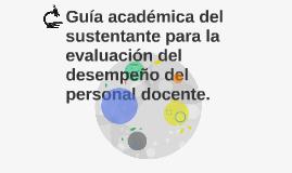 Guía académica del sustentante para la evaluación del desemp