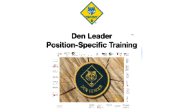 The Den Leader Position-Specific Training course
