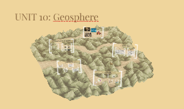 UNIT 10: Geosphere