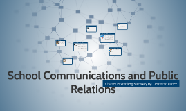 School Communications and Public Relations