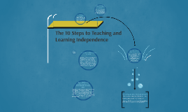 Copy of The 10 Steps to Teaching and Learning Independence