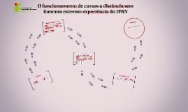 O funcionamento de cursos a distância sem fomento externo: e