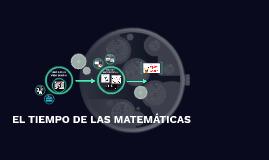 El tiempo de las matemáticas: Una forma diferente para los e