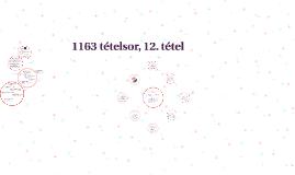 1163(?) tételsor