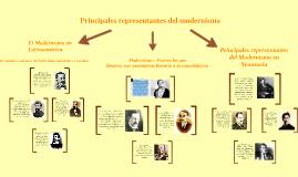 Copy of Principales representantes del modernismo