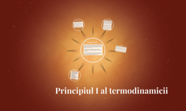 Principiul I al termodinamicii