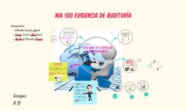 EVIDENCIA DE AUDITORÍA- NIA 500