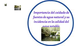 CALIDAD DEL AGUA NATURAL Y POTABLE