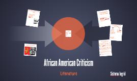African American Criticism