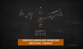 INSTITUCIONES DEL DERECHO PROCESAL LABORAL