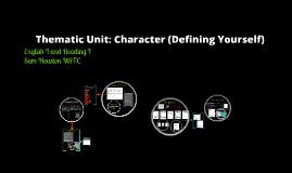 Thematic Unit:  Character (Defining Yourself)