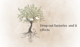 Drop out factories  and it effects