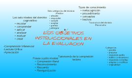 LOS OBJETIVOS INSTRUCCIONALES EN LA EVALUACIÓN
