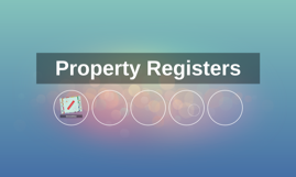 Property Registers